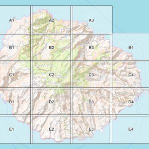 Vorschau pdf Wanderkarte La Gomera Blattübersicht