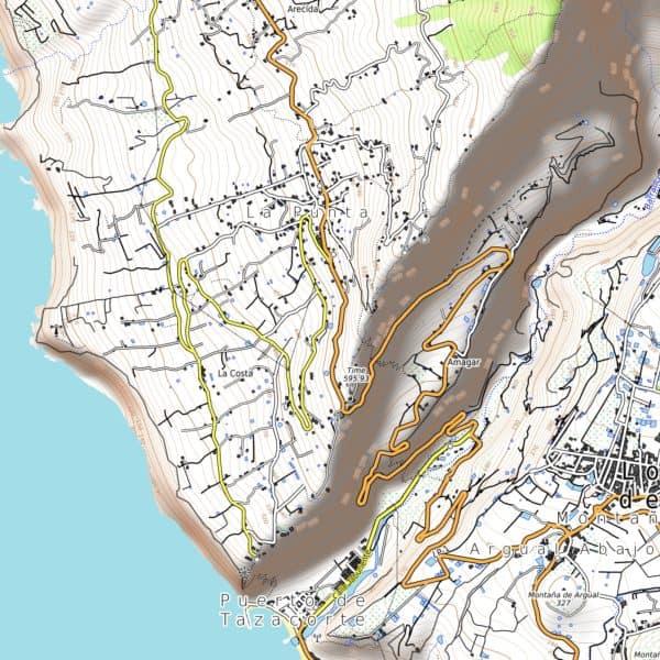 Vorschau pdf Wanderkarte La Palma Aufloesung 300 dpi