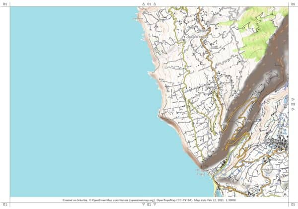 Vorschau pdf Wanderkarte La Palma Blatt D1