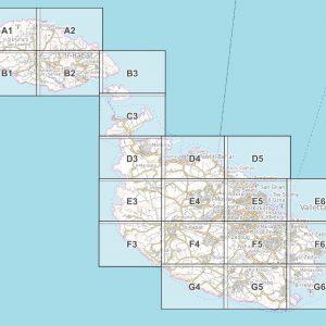 Vorschau pdf Wanderkarte Malta Gozo Blattübersicht 2020