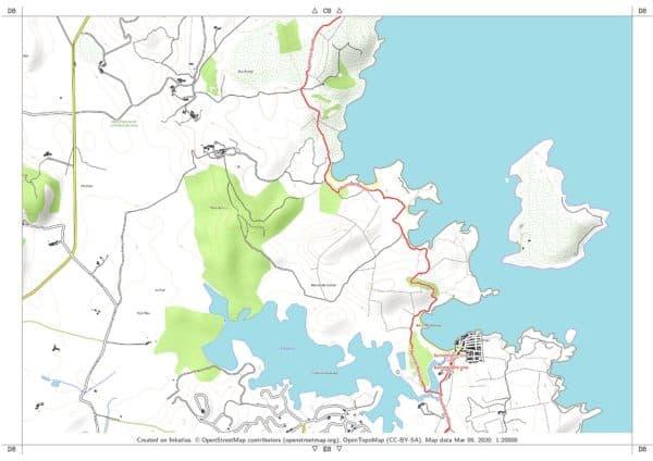 Vorschau pdf Wanderkarte Menorca GR 223 Teil 1 Blatt D8