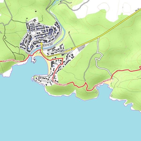 Vorschau pdf Wanderkarte Menorca GR 223 Teil 2 Auflösung 300 dpi