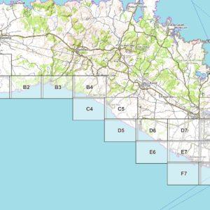 Vorschau pdf Wanderkarte Menorca GR 223 Teil 2 Blattübersicht