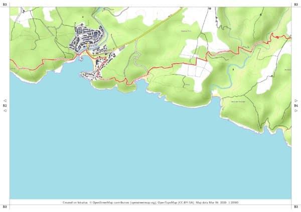 Vorschau pdf Wanderkarte Menorca GR 223 Teil 2 Blatt B3 scaled