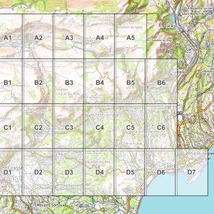Vorschau pdf Wanderkarte Nizza Grasse Blattübersicht