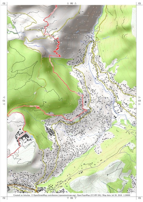 Vorschau pdf Wanderkarte Nizza Grasse Blatt C2 mit Rahmen