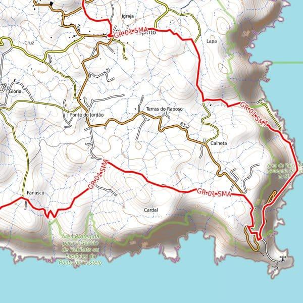 Vorschau pdf Wanderkarte Santa Maria Azoren Auflösung 300 dpi
