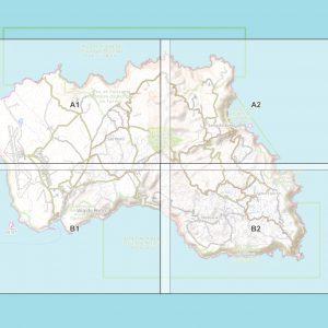 Vorschau pdf Wanderkarte Santa Maria Azoren Blattübersicht