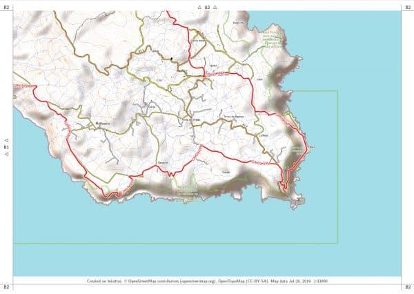 Vorschau pdf Wanderkarte Santa Maria Azoren Blatt B2