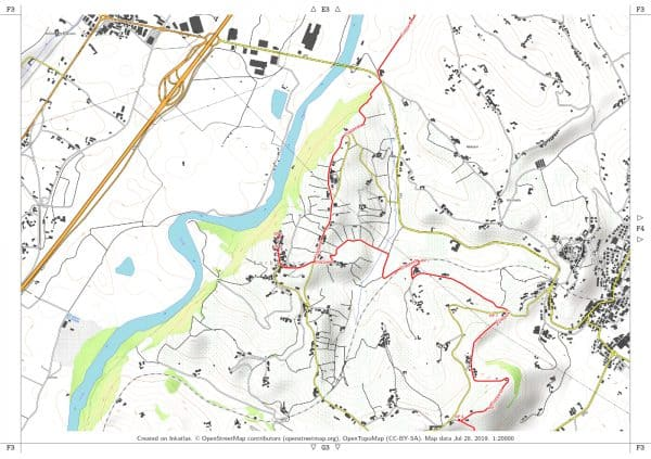 Vorschau pdf Wanderkarte Weinwandern Piemont Blatt F3 mit Rahmen