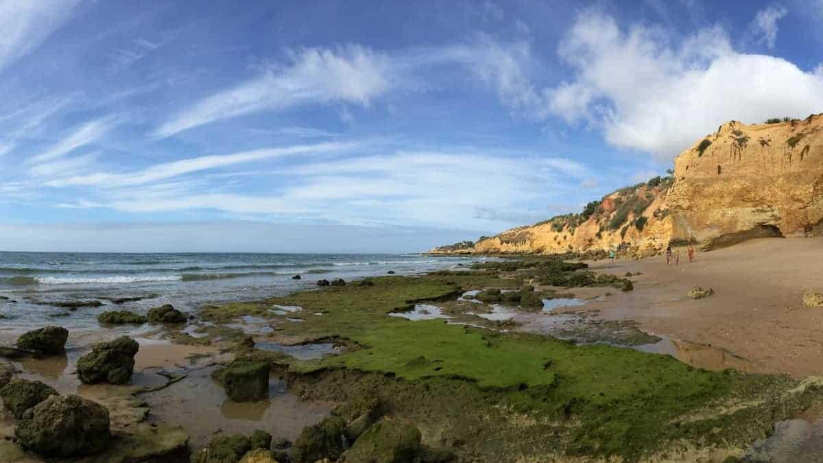 Wandern an der Algarve vom Flughafen Faro immer an der Küste entlang nach Westen 1