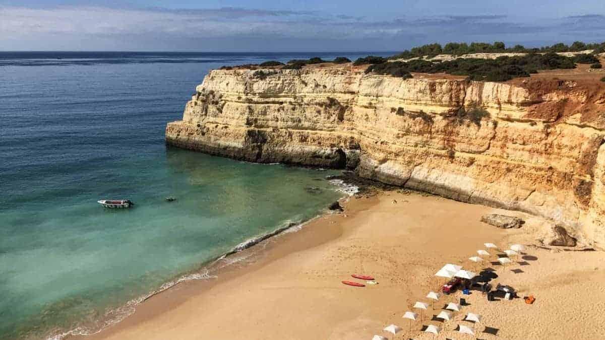Wandern an der Algarve vom Flughafen Faro immer an der Küste entlang nach Westen 2