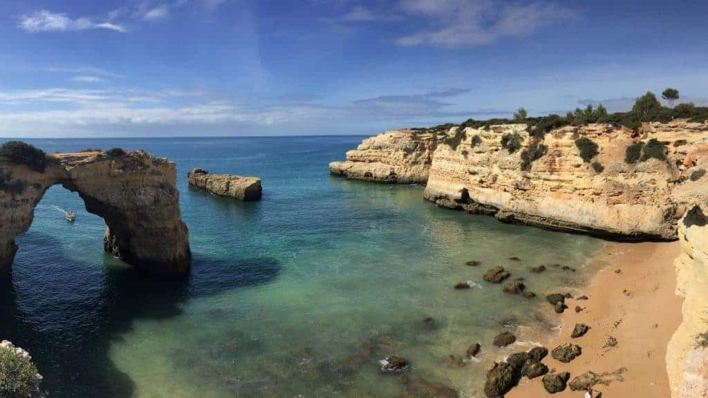 Walking in the Algarve from the airport Faro always west along the coast 3