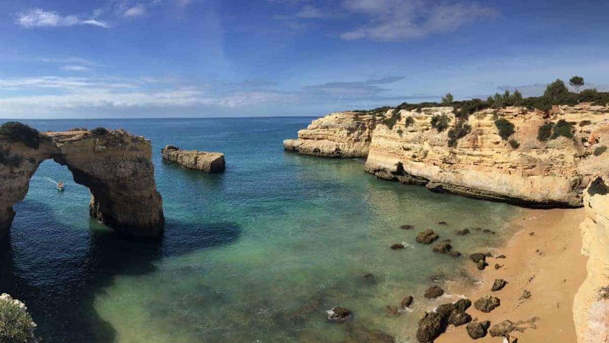 Wandern an der Algarve vom Flughafen Faro immer an der Küste entlang nach Westen 3