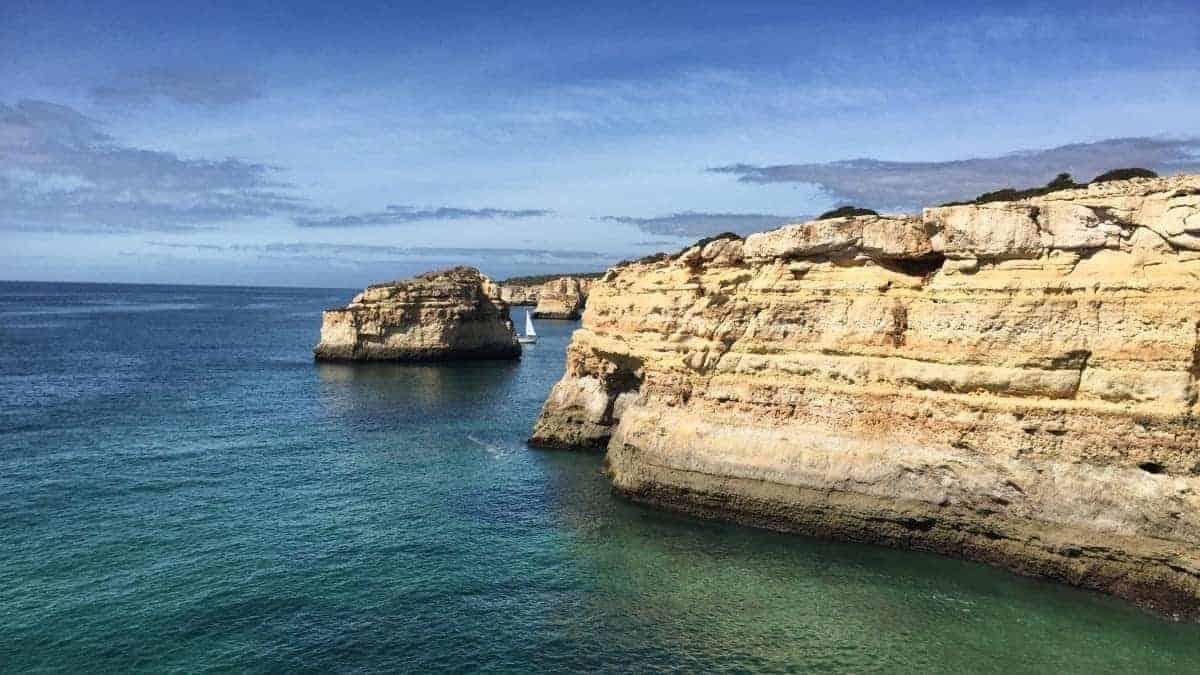 Wandern an der Algarve vom Flughafen Faro immer an der Küste entlang nach Westen 4