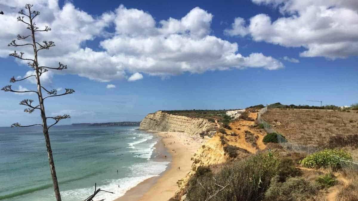 Wandern an der Algarve vom Flughafen Faro immer an der Küste entlang nach Westen 5