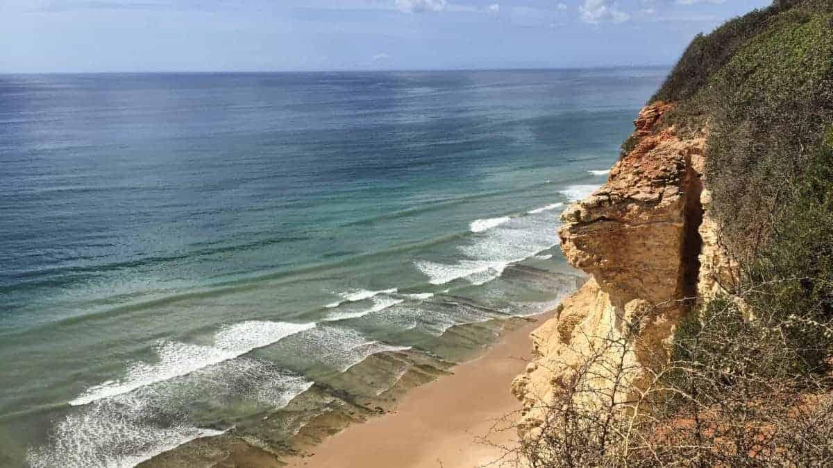 Wandern an der Algarve vom Flughafen Faro immer an der Küste entlang nach Westen 6