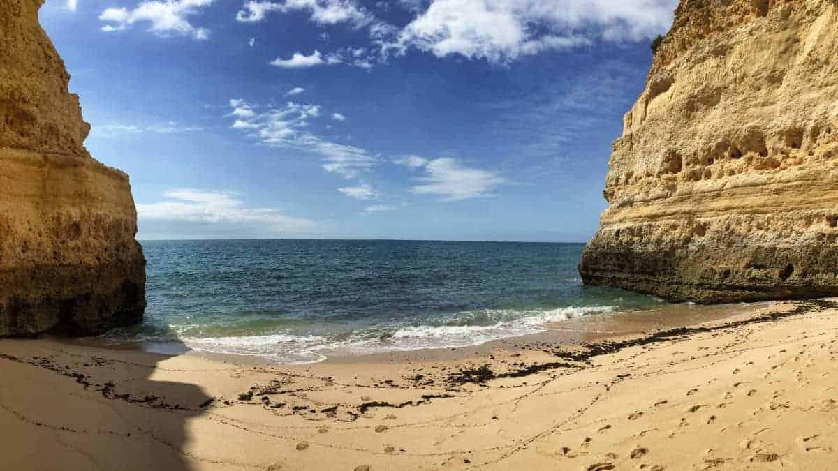 Wandern an der Algarve vom Flughafen Faro immer an der Küste entlang nach Westen 7
