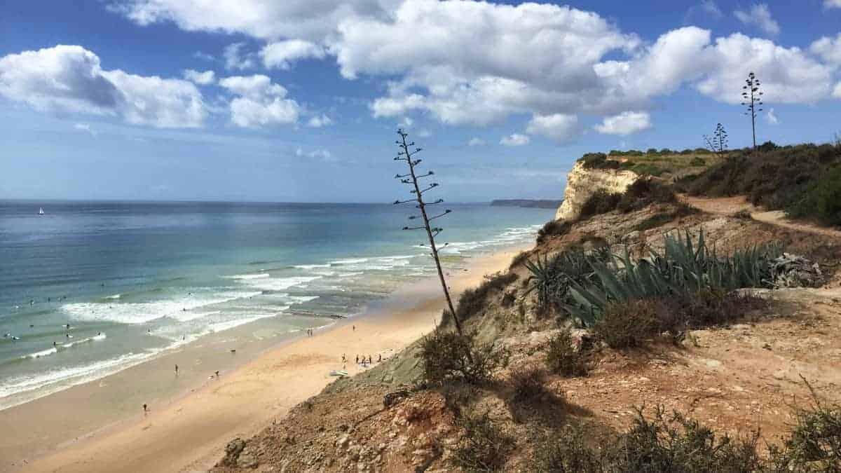 Wandern an der Algarve vom Flughafen Faro immer an der Küste entlang nach Westen 8